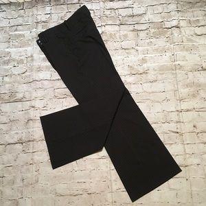 Zara basic wide leg black stripes pants size 10